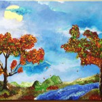 "Title: ""Autumn River"" Size: 0,80 x 0,40 m Material: Acryl on Canvas Price: € 440,-"
