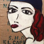 """Title: """"Leonora"""" Size: 0,60 x 0,80 m Material: Acryl on Pack canvas Price: € 530,-"""