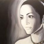 "Title: ""Jennifer Lopez"" Size: 0,80 x 0,60 m Material: Acryl on Canvas Price: € 1.150,-"