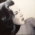 """Title: """"Hedy Lamarr"""" Size: 1,00 x 0,80 m Material: Acryl on Canvas Price: € 1.140,-"""