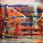 """>Title: """"Shanghai"""" Size: 1,20 x 0,90 m Material: Acryl on Canvas Price: € 570,-"""