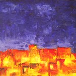 """Title: """"Casablanca"""" Size: 0,80 x 0,60 m Material: Acryl on Canvas Price: € 520,-"""