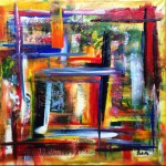 """Title: """"Cubism 2025"""" Size: 1,20 x 0,90 m Material: Acryl on Canvas Price: € 540,-"""