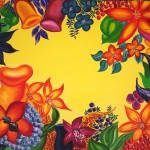 """Title: """"Psychedelic Flowers No. 2"""" Size: 1,00x0,80 m Material: Acryl on Canvas Price: € 770,-"""