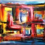 """Title: """"Cubism 2017"""" Size: 1,20 x 0,90 m Material: Acryl on Canvas Price: € 570,-"""