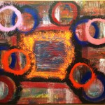 """Title: """"Searching Circles"""" Size: 1,20 x 0,90 m Material: Acryl on Canvas Price: € 520,-"""