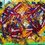 """Title: """"Ways and Jazz"""" Size: 1,20 x 0,90 m Material: Acryl on Canvas Price: € 450,-"""