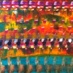 """Title: """"The Crowd No. 2"""" Price: € 450,-"""