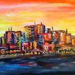 """Title: """"Ocean Dream City"""" Price: € 650,-"""